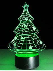 Funny 3D Christmas Tree Shape Touch Colorful Night Light -