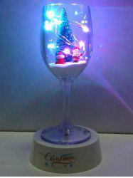 Colorful USB Merry Christmas Goblet Cup LED Night Light