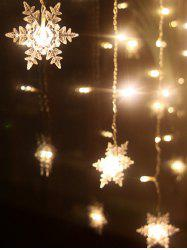 Christmas Indoor Decor Snowflake Pendant LED String Light - WARM WHITE LIGHT