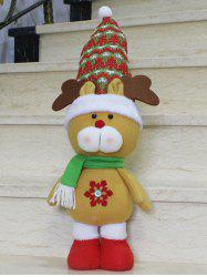 Christmas Gift  Party Decoration Standing Elk Doll - YELLOW