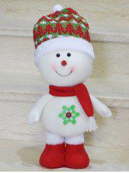 Cut Standing Snowman Doll Toy Xmas Decoration Best Gift - RED WITH WHITE