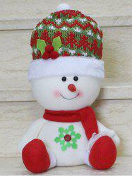 Christmas Gift Sitting Snowman Doll Xmas Decoration