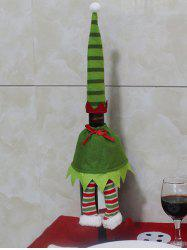 Christmas Table Decor Stripe Clothes Design Wine Bottle Cover Bag