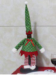 Christmas Dot Clothes Design Wine Bottle Cover Bag