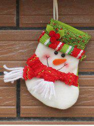 Christmas Snowman Xmas Tree Decor Hanging Present Bag Sock - RED WITH WHITE
