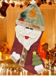 Happy New Year Christmas Santa Hanging Gift Bag Sock