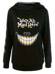 We Are All Mad Here Hoodie - BLACK M