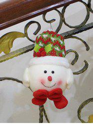 Christmas Gift Snowman Doll Pendant Xmas Tree Decoration - RED WITH WHITE