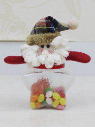 Christmas Supplies Cute Plush Santa Toy Star Shape Candy Jar -
