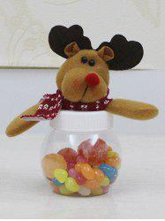 Christmas Cute Plush Elk Toy Candy Jar -