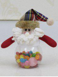 Christmas Cute Plush Santa Toy Candy Jar