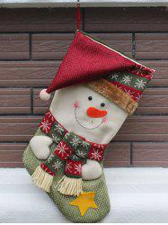 Snowman Hanging Candy Present Sock Christmas Decoration - COLORMIX