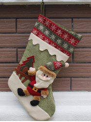 Merry Christmas Santa Claus Hanging Candy Present Sock - GREEN