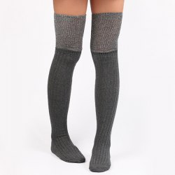 Warm Ribbed Knit Stockings -