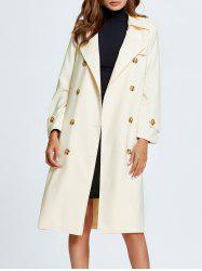 Bowknot Side Slit Trench Coat -