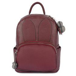 Rabbit Ear PU Leather Backpack -