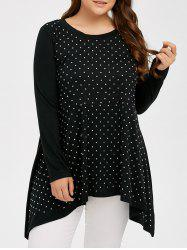 Plus Size Rhinestone Decorated T-Shirt