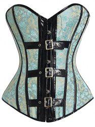 Jacquard Strapless Steel Boned Floral Corset Top