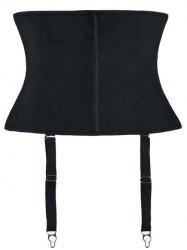 Strapless Waist Training Corset With Strap - BLACK