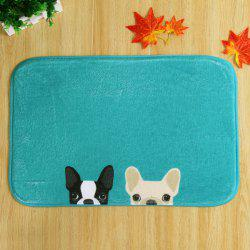 Two Dog Soft Absorbent Non Slip Door Carpet - DEEP GREEN