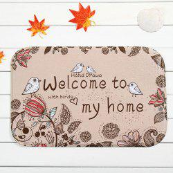 Floral Bird Antislip Absorbent Door Entrance Carpet