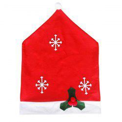 Christmas Decorations Non-Woven Snowflake Chair Covers