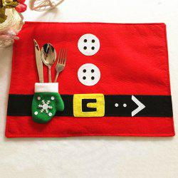 Home Decor Christmas Supplies Cloth Pad with Knife and Fork Bag Table Mat