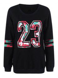 23 Graphic Plus Size Pullover Sweatshirt -