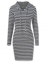 Striped Hooded Dress - STRIPE M