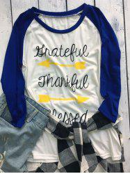 Thanksgiving Raglan Sleeve Arrow Pattern Tee