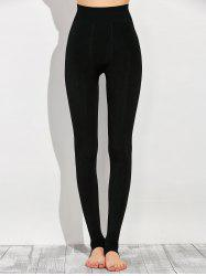 Stretchy Stirrup Leggings - BLACK
