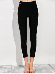 Applique Footless Tights - BLACK L