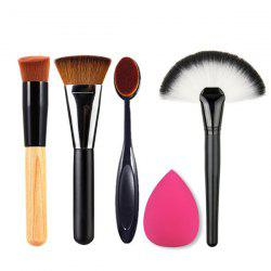 4 Pcs Makeup Brushes and Makeup Sponge