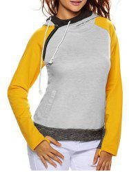 Raglan Sleeve Pullover Hoodie With Pocket