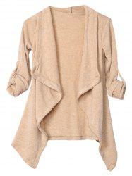 Irregular Knitted Draped Cardigan