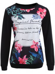 Pullover Sweatshirt with Graphic Print -