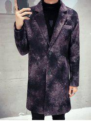 Lapel Single Breasted Tie Dyed Tweed Coat