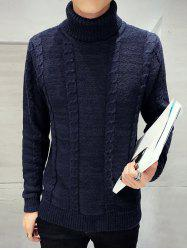 Long Sleeve Turtleneck Cable Knit Sweater