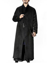 Longline Pocket One Button Wool Blend Coat