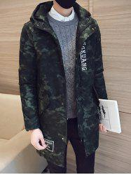 Camo Zip Up Pocket Hooded Padded Coat - ARMY GREEN