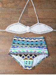 Crochet High Waisted Bikini Set