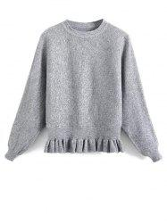 Ruffled Batwing Sleeve Sweater -
