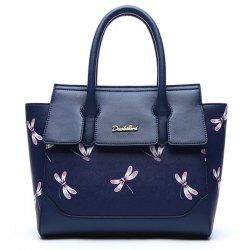 Dragonfly Printed Winged Handbag -