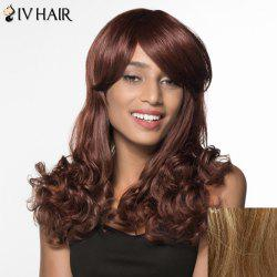 Boutique Long Side Bang Wavy Siv Hair Human Hair Wig