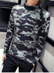 Long Sleeve Roll Neck Camouflage Tee -