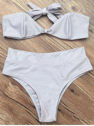 Bandeau High Waisted Thong Bikini -