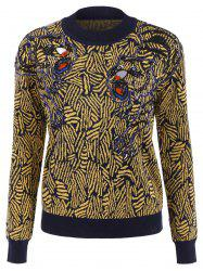 Beaded Animal Graphic Sweater
