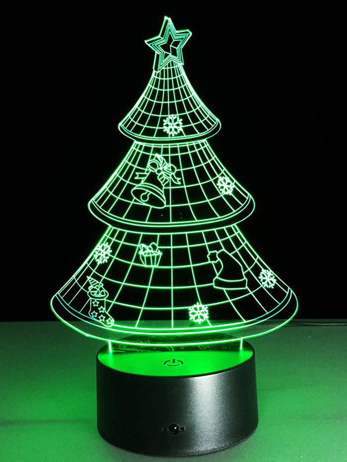 Chic Funny 3D Christmas Tree Shape Touch Colorful Night Light