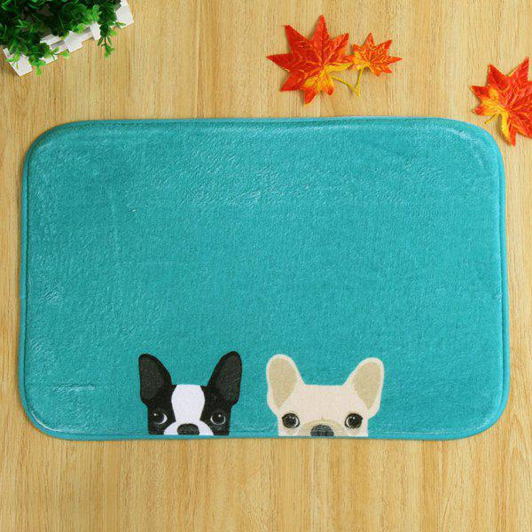 Two Dog Soft Absorbent Non Slip Door CarpetHOME<br><br>Color: DEEP GREEN; Type: Carpet; Material: Fleece Fabric; Style: Contemporary; Shapes: Rectangle; Size(CM): 40*60; Weight: 0.480kg; Package Contents: 1 x Carpet;