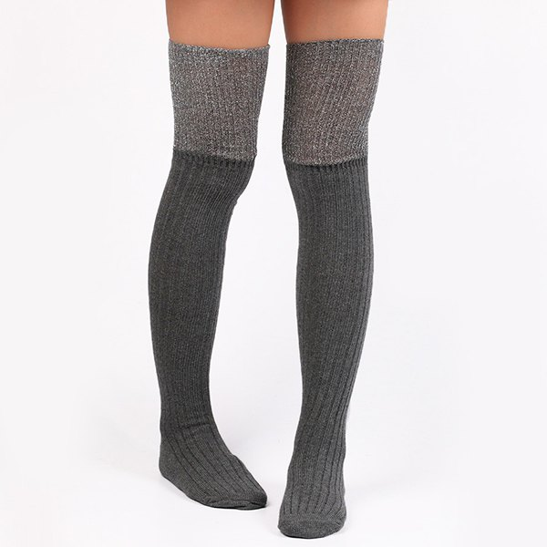 Outfits Warm Ribbed Knit Stockings